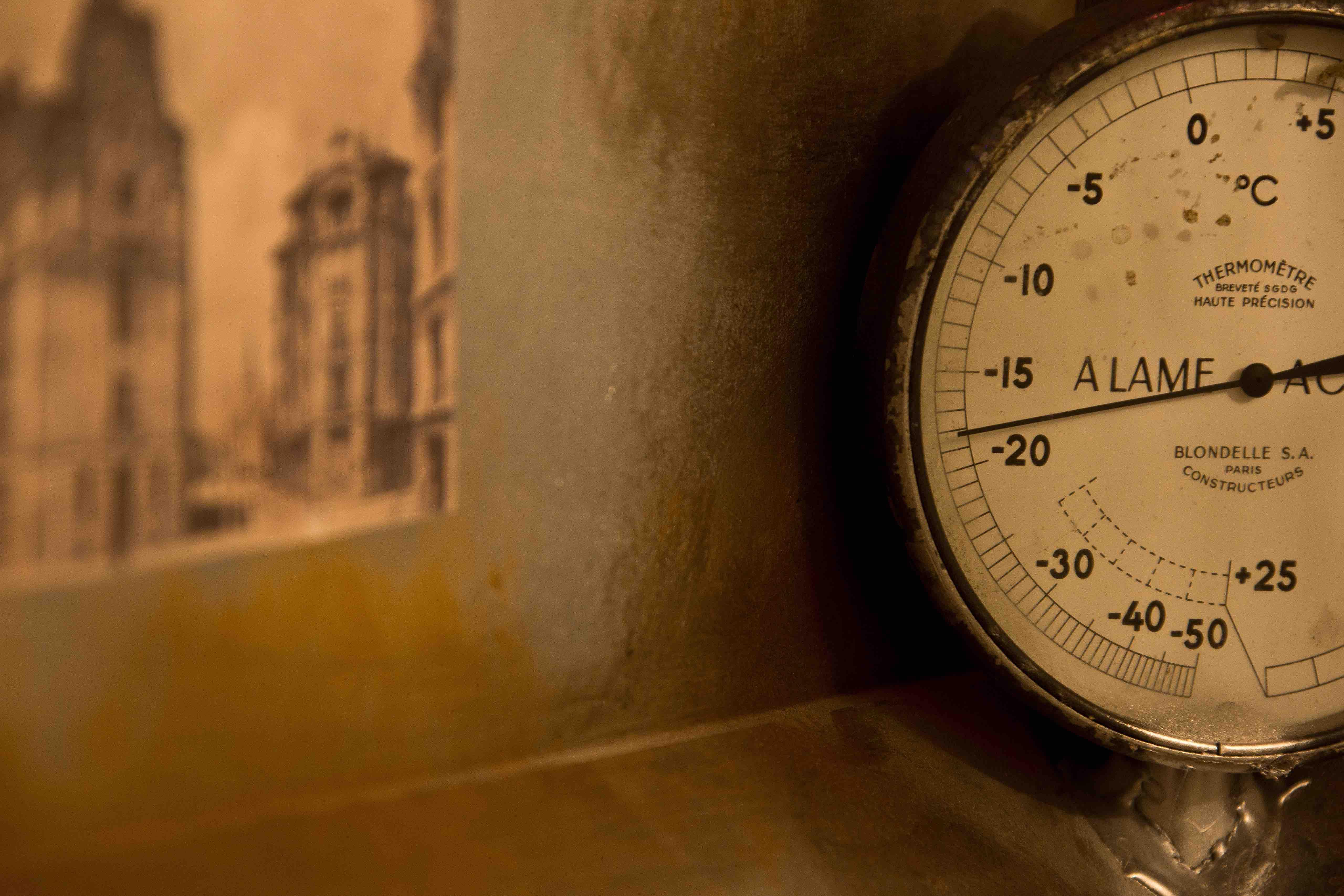 Thermomètre de la salle Monuments Men - Escape game Le défi des ducs à Dijon